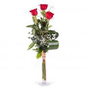 Interflora 3 Rosas Vermelhas de Pé Longo Interflora