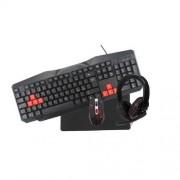 GamingKit 4-i-1 Tangentbord, Mus, Headset, Musmatta
