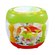 MW Toyz Musical Flash Drum With Flashing Lights And Rotating Fish Assorted Colors