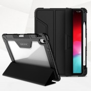 NILLKIN Bumper Leather Cover Case for iPad Pro 11-inch (2018) [Imported TPU, PC and PU Leather Materials] - Black