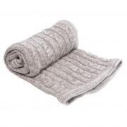 Paturica tricotata din bumbac Melange Grey