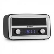 Caprice BK Radio Sveglia Retro Bluetooth FM USB AUX Nera