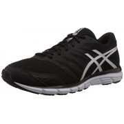 Asics Men's Gel Zaraca 4 Black, White and Silver Mesh Running Shoes - 10 UK