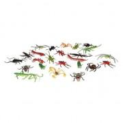 Merkloos Plastic speelgoed insecten dieren speelset 24-delig