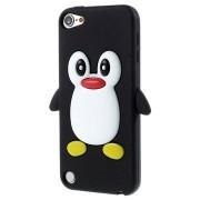 iPod Touch 5G 3D Pinguïn Siliconen Hoesje - Zwart