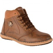 1AAROW 149 TAN CASUAL BOOTS FOR MENS