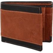 R Men Casual Black, Brown Artificial Leather Wallet(8 Card Slots)