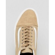 Vans Old Skool Suede Trainers In Beige VA38G1OS4 - Beige