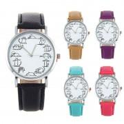 Luxury Women's Watch Dress digital Quartz Wristwatch Pu Leather Cat dial Ladies watch Women clock Feminino Relogio Relojes Mujer