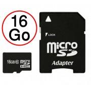 Lenovo Moto Z2 Play Carte Mémoire Micro-SD 16 Go + Adaptateur de qualité by PH26®