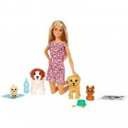 Barbie Y Su Guardería De Perritos Muñeca Con Mascotas Y Accesorios Mattel