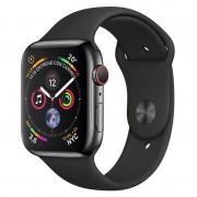 Apple Watch Series 4 GPS + Cellular 44mm Aço Inoxidável Preto Sideral com Bracelete Desportiva Preta