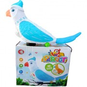 OH BABY BABY 3D LIGHT PARROT MUSICAL POWER WITH AUTOMATIC SENSOR BLUE COLOR HaPPY PARROT FOR YOUR KIDS SE-ET-15