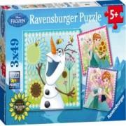PUZZLE FROZEN 3x49 PIESE Ravensburger
