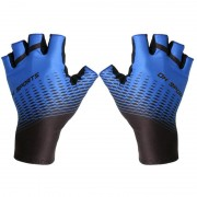 One Pair Half Finger Biking Gloves Shock-Absorbing Mountain Bike Gloves - Blue/Size: XL
