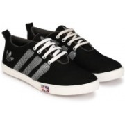 Shoe Day Canvas Shoes For Men(Black, White)
