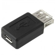 High Quality USB 2.0 AF to Micro USB Female Adapter