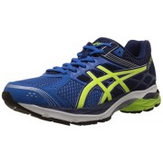 Asics Men's Gel Pulse 7 Electric Blue, Flash Yellow and Indigo Blue Mesh Running Shoes - 11 UK