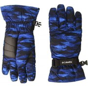 Columbia Guantes para niños, Super Blue Blanket Print, Medium