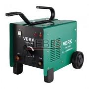 Aparat de sudura cu arc Verk VAW-160A, Electrod 1.6 - 3.2 mm, 15 Kg, Accesorii incluse, Verde