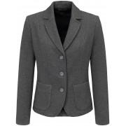 Peter Hahn Jersey-Blazer edler Struktur Peter Hahn grau