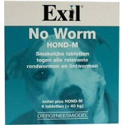 Exil No Worm Hond Medium Tabletten