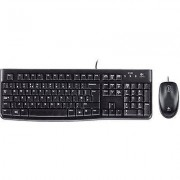 Logitech MK120 Desktop USB keyboard/mouse combo Splashproof Black