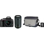 Nikon »D5300« spiegelreflexcamera (AF-P DX NIKKOR 70-300 mm 1:4,5-6,3G ED VR, 24,2 MP, wifi)