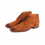 Nubuck Brogue Boots Cognac - Cognac 41
