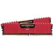DDR4, KIT 16GB, 2x8GB, 2400MHz, Corsair Vengeance™ LPX Red, CL16 (CMK16GX4M2A2400C16R)