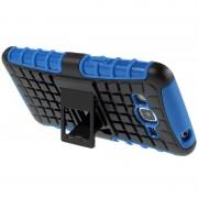 Bolsa Híbrida Antiderrapante para Samsung Galaxy Grand Prime - Preto / Azul