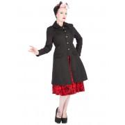 kabát női tavaszi / őszi HEARTS AND ROSES - Brocade Military - Black - 9189