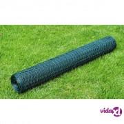 vidaXL Šesterokutna žičana mreža 75 cm x 25 m obložena PVC debljina 0,8 mm