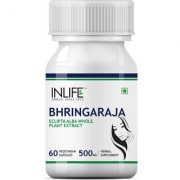 INLIFE Bhringraja 500mg Extract (60 Vegetarian Capsules) for Hair Skin and Nails