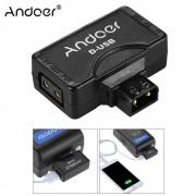 Andoer D-Tap naar 5 V USB Adapter Connector voor V-Mount Camcorder Camera Batterij voor BMCC Smartphone Monitor