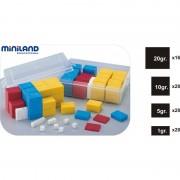 Set 76 greutati din plastic Miniland