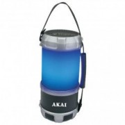 Boxa portabila felinar AKAI pentru camping Port USB IN Lumina LED Alba si RGB Radio FM Functia Bluetooth Putere RMS 16 W