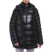 【88%OFF】中わた入 ジャケット付 フーデッドコート ブラック l ファッション > レディースウエア~~ジャケット