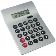 Bellatio Design Basic rekenmachine/calculator zilver 20 cm