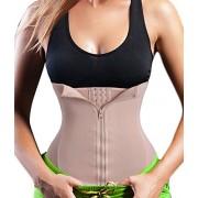 Gotoly Lumbar Back Supports, Waist Trainer Corset for Weight Loss Zipper & Hook (4XL Fits 37.0-40.1 Inch Waistline, Beige)
