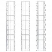 Комплект от 3 броя градински габиони - ограда