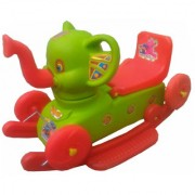 Oh Baby Multi color Rocking Plastic Elephant With Wheel SE-RT-08
