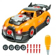 Innovative Brain World Racing Car Take-A-Part Toy For Kids with 28 Take Apart Toy Pieces | Build Your Own Race Car Set With Hand Drill