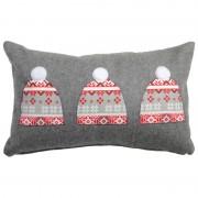 Perna decorativa lana gri - Caciulite de iarna