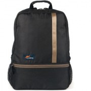 Protecta Right Angle Laptop Backpack for Laptops with Screen Size up to 15.6 inch. (Black & Beige)