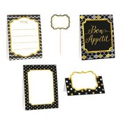 Amscan Black, Gold, and Silver Buffet Decorating Kit (12 Pieces)