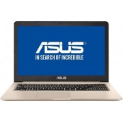 "Laptop ASUS VivoBook Pro N580VD-DM290 (Procesor Intel® Core™ i5-7300HQ (6M Cache, up to 3.50 GHz), 15.6"" FHD, 4GB, 1TB HDD @5400RPM, nVidia GeForce GTX 1050 @2GB, Endless OS, Auriu) + BullGuard Internet Security, 1an, 3 utilizatori, Attach Card + Rucsac L"