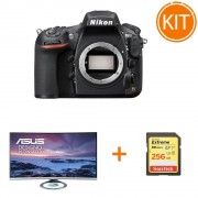 """Kit Nikon D810 Aparat Foto DSLR Body bonus Monitor Asus MX32VQ, 32"""" + Card SanDisk Extreme SDXC 256GB 90MB/s"""