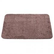 Hnědá bavlněná textilní pratelná vstupní vnitřní čistící rohož Natuflex - délka 60 cm, šířka 100 cm a výška 0,8 cm