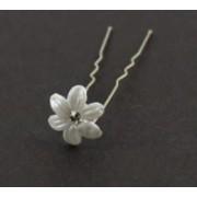 Svatební bižuterie sponka do vlasů plastová bílý květ 6601-1 6601-1